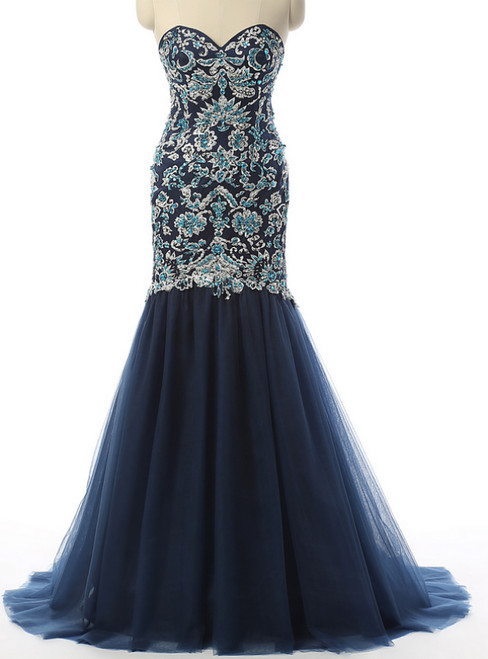 Top 5 Sell Blue Prom Dresses Of 2018 Spring Kemedress