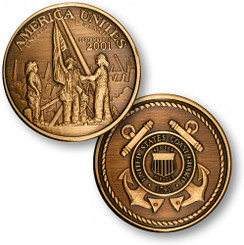 America Unites - USCG Bronze Antique Coin