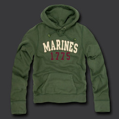 Marine Fleece Pullover Hoodies