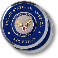 Air Force Hap Arnold Wing Chrome 2 Coaster Set