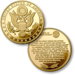 Great Seal - Oath of Re-Enlistment MerlinGold® Coin
