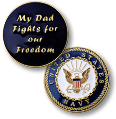 My Dad Fights - Navy Coin