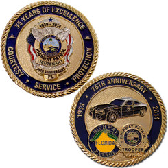 FHP 75th Anniversary Coin - Silver w/Gold