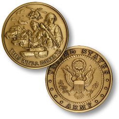 Army Theme Coin - Seal Bronze Antique