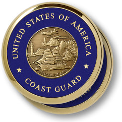 Coast Guard Theme 2 Coaster Set