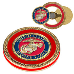 Challenge Coin Ball Marker w/Thin Red Line