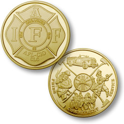 IAFF - Fireman Theme Coin - MerlinGold®