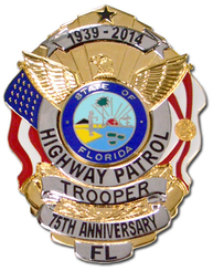 FHP 75th Anniversary Badge - Gold w/Silver