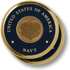 Sailors Creed Brass 2 Coaster Set