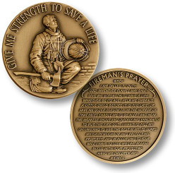 Firefighter in Prayer Coin