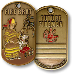 Fire Brat Dog Tag