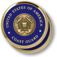 Coast Guard Shield 2 Coaster Set