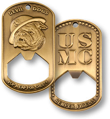 U.S. Marine Corps Dog Tag Bottle Opener