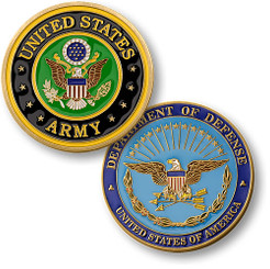 U.S. Army Seal Enamel Coin