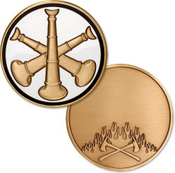 Assistant Fire Chief Bugle - Engravable Coin