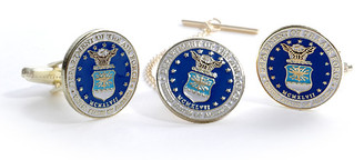 Air Force Tie Tack & Cuff Link Set