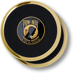 POW-MIA Brass 2 Coaster Set