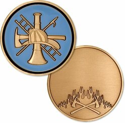 Firefighter Basic Rank - Engravable Coin