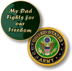 My Dad Fights - Army Coin