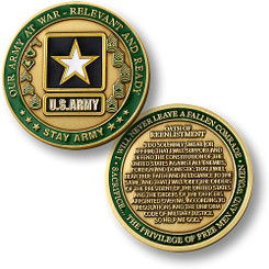 U. S. Army - Stay Army Oath of Reenlistment Coin