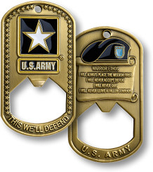 U.S. Army Dog Tag Bottle Opener