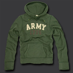 Army Fleece Pullover Hoodies