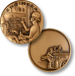 Engineer - Fire Heritage Engravable Coin