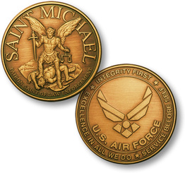 Saint Michael - USAF Emblem Bronze Antique Coin