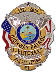 FHP 75th Anniversary Badge - Silver w/Gold