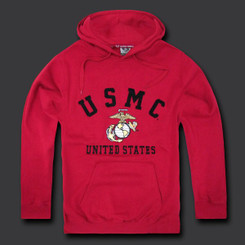 USMC Fleece Pullover Hoodies 1