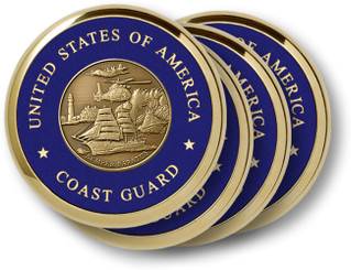 Coast Guard Theme 4 Coaster Set