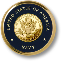 Navy Great Seal Brass Coaster