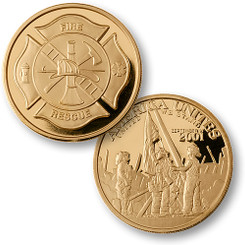 Fire & Rescue / America Unites Coin