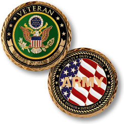 Veteran - U.S. Army Coin
