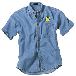 Men's Denim & Twill Short Sleeve Shirt