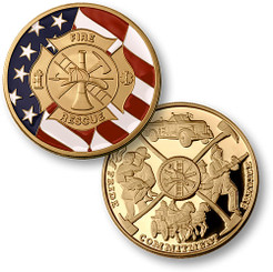 Maltese Cross With Flag Coin