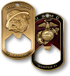 U.S. Marine Corps Dog Tag Bottle Opener 1