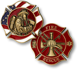 Firefighter In Mask Coin