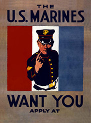 The US Marines Want You Poster