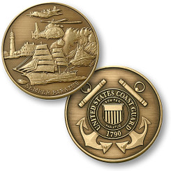 Coast Guard Theme - USCG Bronze Antique Coin