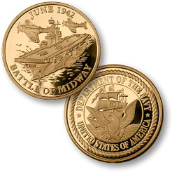 Battle of Midway MerlinGold® Navy Coin