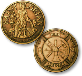 Saint Florian - Bronze Antique Coin