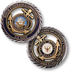 Core Values - U.S. Navy Coin