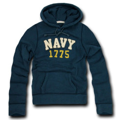 Navy Fleece Pullover Hoodies
