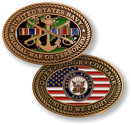 Navy Global War on Terror Navy Coin