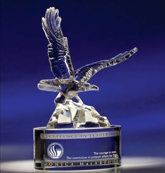 Soaring Eagle Optic Crystal Award 8