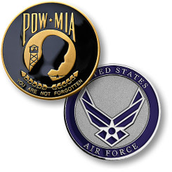 POW MIA Air Force Seal Coin