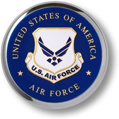 Air Force Emblem Chrome Coaster
