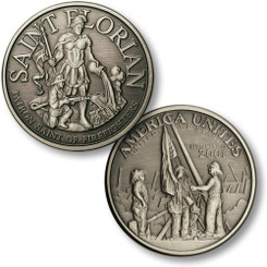 Saint Florian - America Unites Nickel Antique Coin