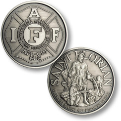 IAFF - St. Florian Nickel Antique Coin
